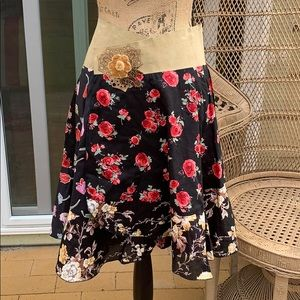 Stiletto skirt wrap 2 small suede floral